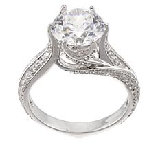 Absolute™ Sterling Silver 3.58ctw Cubic Zirconia Wrap Solitaire Ring