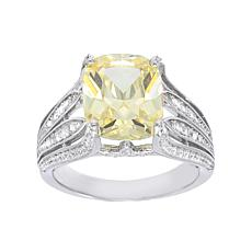 Absolute™ Sterling Silver  Colored CZ Cushion-Cut Cocktail Ring
