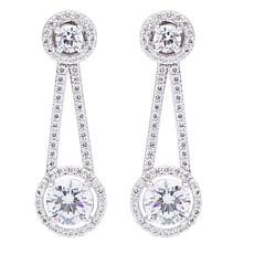 Absolute™ Sterling Silver Cubic Zirconia Stud Earrings with Jackets