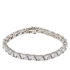 Absolute™ Sterling Silver Cubic Zirconia Trilliant-Cut Tennis Bracelet