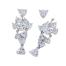 Absolute™20ctw  Trillion-Cut Convertible Drop Earrings
