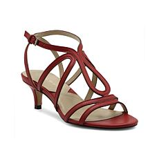 Adrienne Vittadini Safara Strappy Leather Sandals