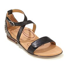 Aetrex® Brenda Beaded Heel Leather Sandal