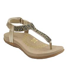 Aetrex® Jade Orthotic Crystal-Covered Thong Sandal