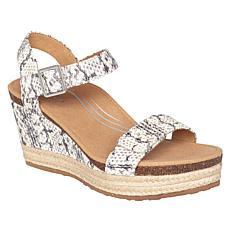 Aetrex® Sydney Orthotic Suede Espadrille Wedge Sandal