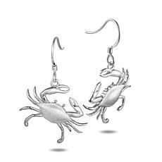 Alamea Sterling Silver Blue Crab Drop Earrings