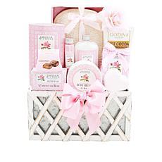 Alder Creek Gift Baskets - 12 Roses Spa Basket