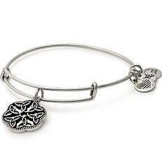 "Alex and Ani ""Endless Knot"" Charm Expandable Bangle-Silvertone"