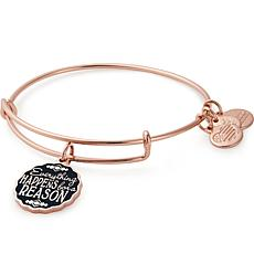 "Alex and Ani ""Everything Happens for a Reason"" Charm Expandable Bangle"