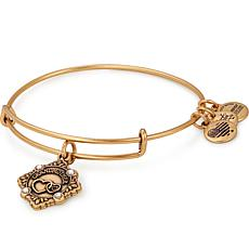 "Alex and Ani ""Grandmother"" Adjustable Bangle Crystal Charm Bracelet"