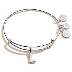 Alex and Ani Initial Charm Expandable Bangle Bracelet