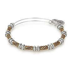 Alex and Ani Two-Tone Quill Beaded Expandable Bangle