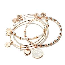 "Alex and Ani Words are Powerful ""Believe"" 5-piece Bangle Set"