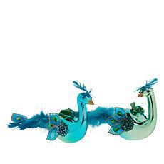 Alison Cork Set of 2 Peacock Ornaments
