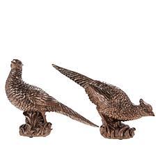 Alison Cork Set of 2 Pheasant Statues