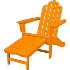 All-Weather Adirondack Chair with Ottoman - Tangerine