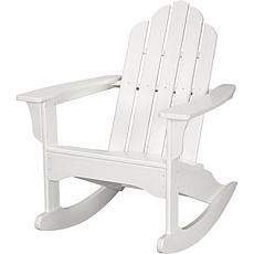 All-Weather Adirondack Rocking Chair - White