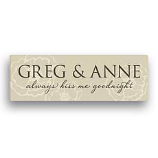 Always Kiss Me Goodnight 2-Name Personalized Wall Art