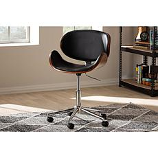 Ambrosio Faux Leather Upholstered Adjustable Swivel Office Chair