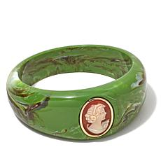 "AMEDEO ""Duchessa"" 20mm Cameo Bangle Bracelet"