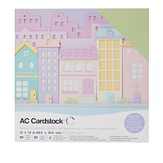 "American Crafts 12"" x 12"" Heavyweight Cardstock 60-piece"