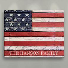 American Flag Personalized 16x20 Canvas