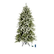 American Tree & Wreath 6.5' Color-Changing Flocked Starry Alpine Tree