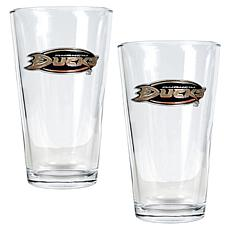 Anaheim Ducks 2pc Pint Ale Glass Set
