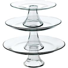 Anchor Hocking Table Ware Presence 3-Tier Platter Set
