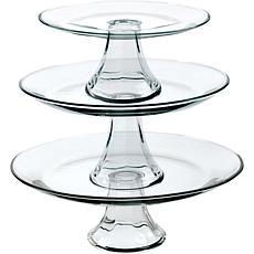 Anchor Hocking Table Ware Presence 3-Tier Platter Set