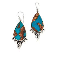 "Angie Spady ""Full Bloom"" Pear-Shaped Drop Earrings"