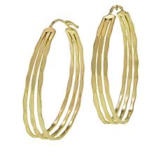 Anju Hammered Multi-Layer Hoop Earrings