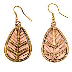 Anju Tri-Tone Leaf Drop Earrings