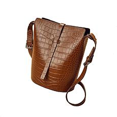 Anna Cai Genuine Leather Croc Skin Purse