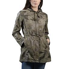 Anna Cai Hooded Camo Field Anorak Jacket - Womens