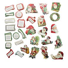 Anna Griffin® 120 Vintage Santa Stickers and Embellishments