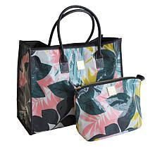 Anna Griffin® All-Purpose Tote with Large, Matching Cosmetic Bag