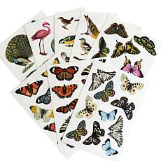 Anna Griffin® Birds and Butterflies Rub-On Transfers
