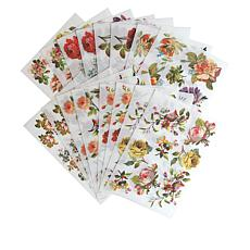 Anna Griffin® Floral Rub-On Transfers with Storage Folio