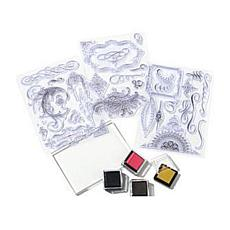 Anna Griffin® Flourish Stamps with 4 Inks