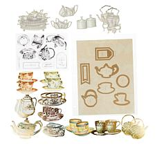 Anna Griffin® Tea Cup Stamps, Dies and Diecuts Set