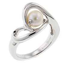 "Anne Geddes ""Infinity"" White Cultured Freshwater Pearl Ring"