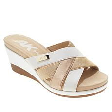 Anne Klein Sport Pilot Slip-On Strappy Wedge Sandal