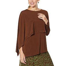 Antthony Asymmetric Long-Sleeve Double Layer Top
