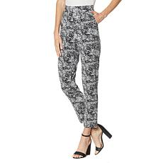 Antthony Batik Print Tapered-Leg Pull-On Ankle Pant