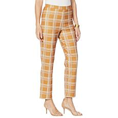 Antthony Boss Lady Plaid Pull-On Pant