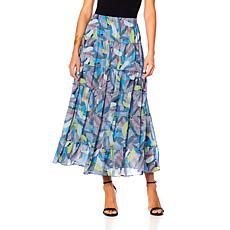 "Antthony ""Color Fusion"" Printed Chiffon Skirt"