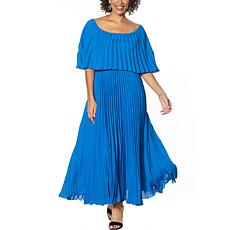 Antthony Couture Pleated Maxi Dress