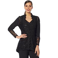 """Antthony """"Diamond Couture"""" Lace Jacket and Tank"""