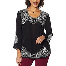 Antthony Embroidered Bracelet-Sleeve Top